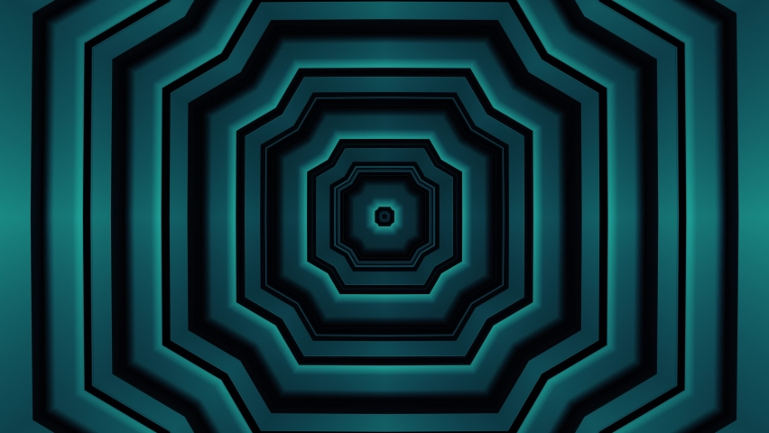 Turquoise green art deco abstract background loop