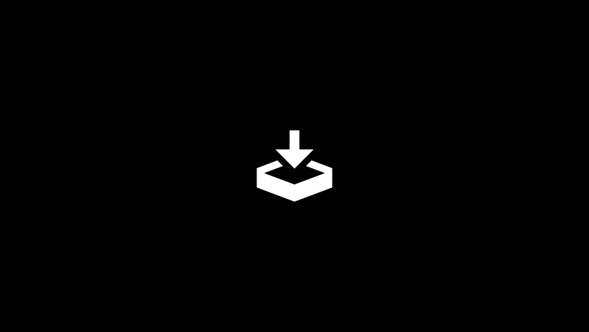 Animation of save icon in center over a black background from the OS collection - FUI - HUD Video Element. | Shutterstock HD Video #1060345679