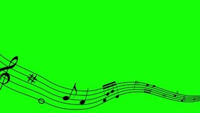 music  green screen concert art symhony animation chroma key musical keys notes rock jazz classical