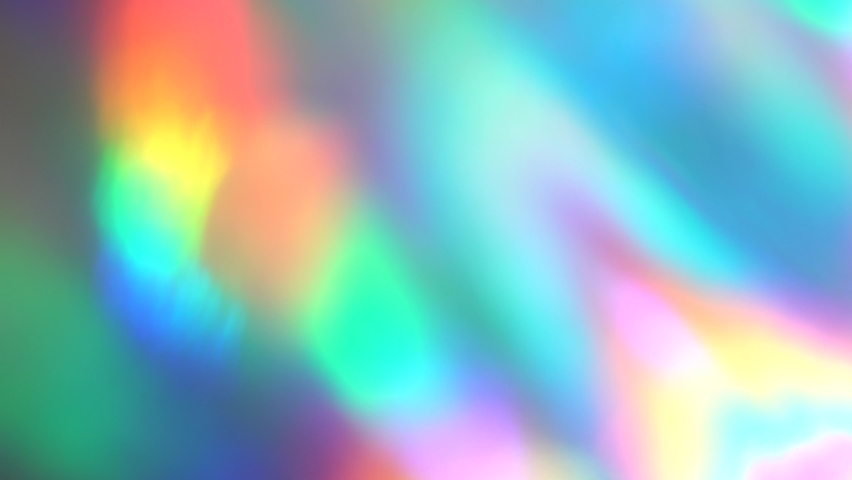 Spectral iridescent blurred neon, purple, blue, pink rays, light leaks, reflections, glare, bright colors. Visual Psychedelic abstract art Royalty-Free Stock Footage #1060387961