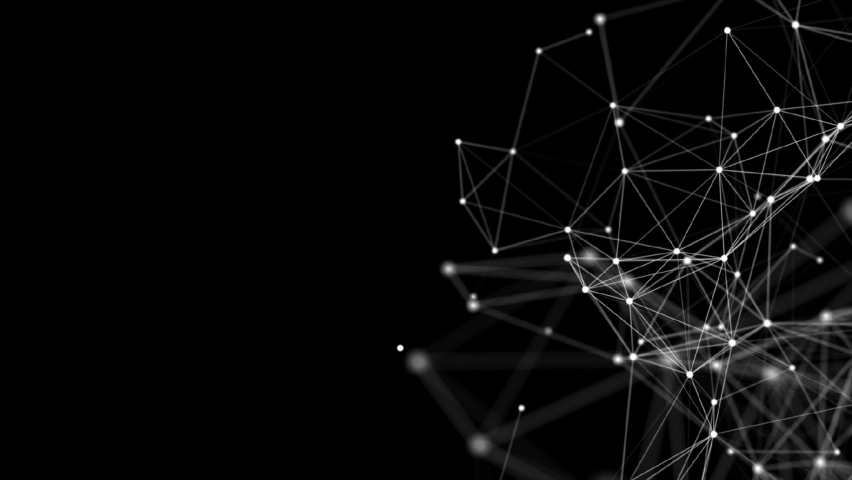 Abstract polygonal loop background with connected lines and dots. Minimalistic geometric pattern. Molecule structure and communication. Graphic plexus background. Science, medicine, technology concept | Shutterstock HD Video #1060403474