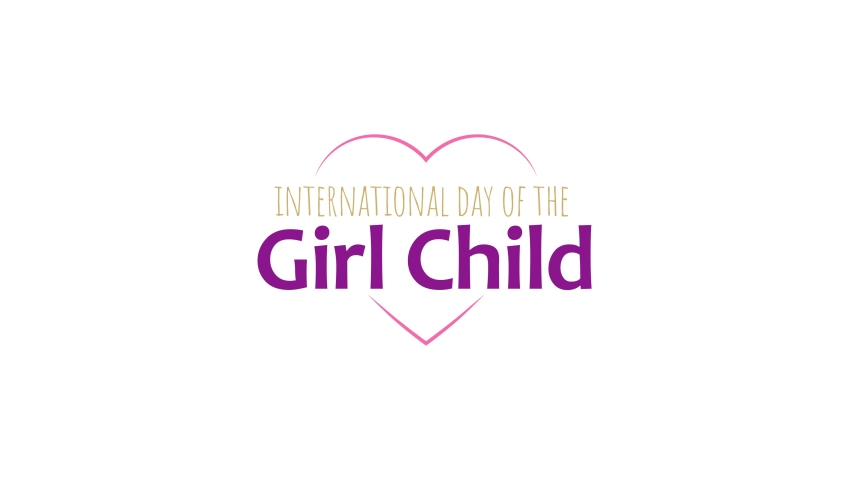 Design for celebrating International Day Of The Girl Child, October 11th, in motion graphic design
