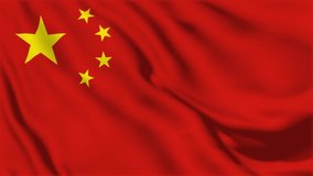 A beautiful view of China flag video. 3d flag waving video. China flag HD resolution. China flag Closeup Full HD video.