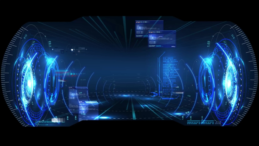 Modern for game background design Futuristic HUD, UX, GUI interface screen design. Sci-Fi Virtual Reality technology view display. Technology vr background. Template virtual reality gaming | Shutterstock HD Video #1060437649