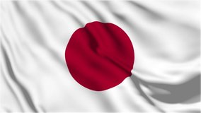 A beautiful view of Japan flag video. 3d flag waving video. Japan flag HD resolution. Japan flag Closeup Full HD video.