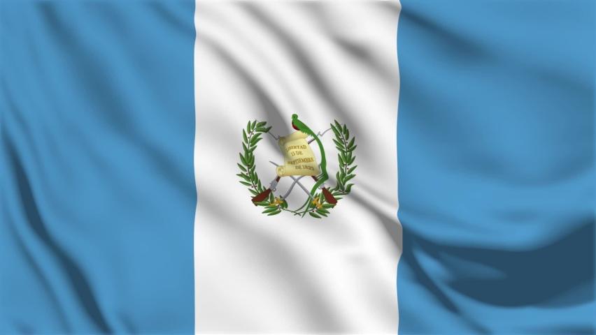 A beautiful view of Guatemala flag video. 3d flag waving video. Guatemala flag HD resolution. Guatemala flag Closeup Full HD video.