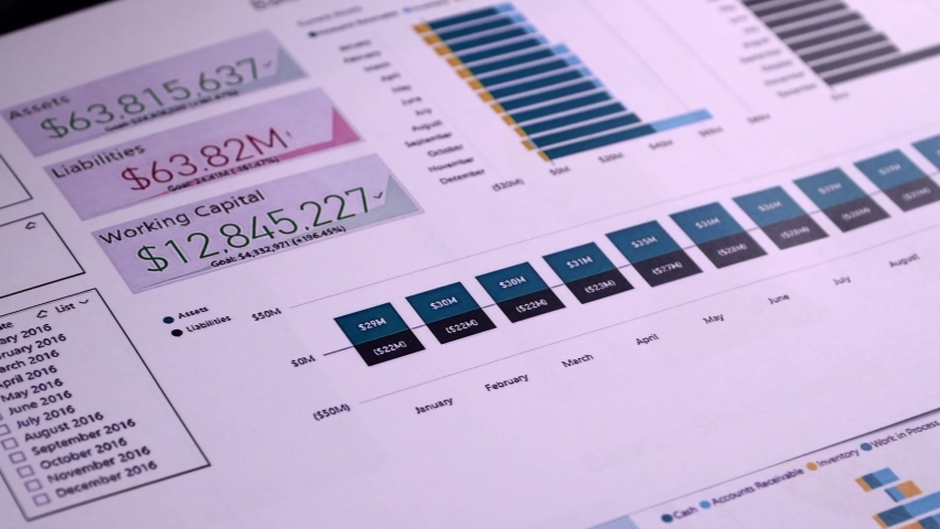 Conceptual composition. Balance sheet form on the background of financial documents, close-up