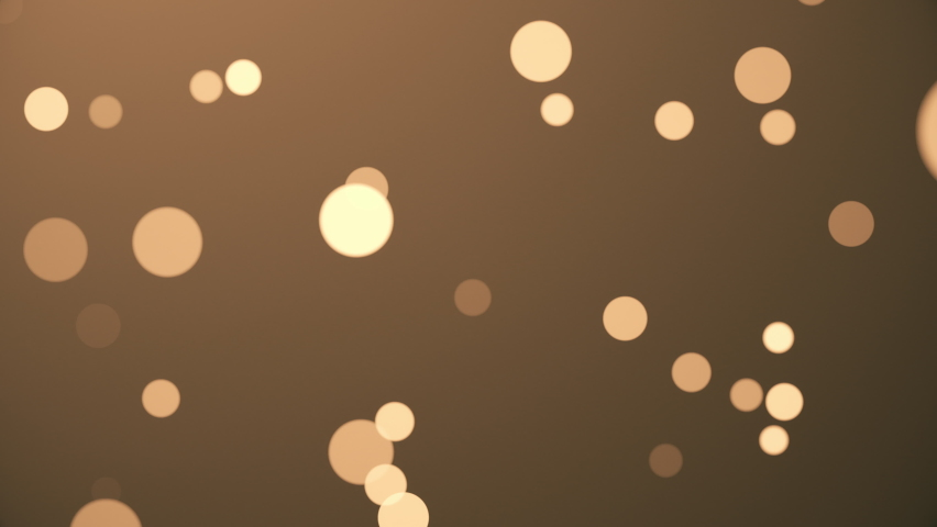 Abstract golden brown defocused blur bokeh light background - seamless looping, 4K, Christmas background. Royalty-Free Stock Footage #1060538179