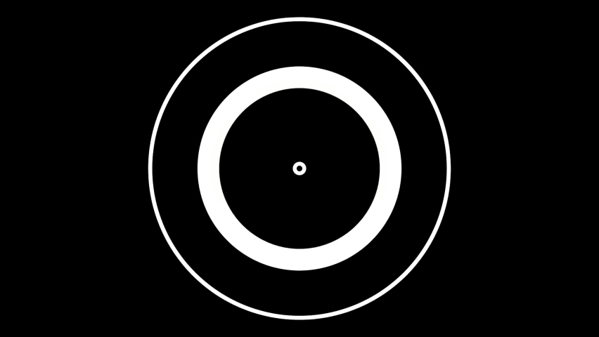 4K Concentric circles animation on a black background.Great for keying or masking and used as wipe transition as alpha channel | Shutterstock HD Video #1060577113