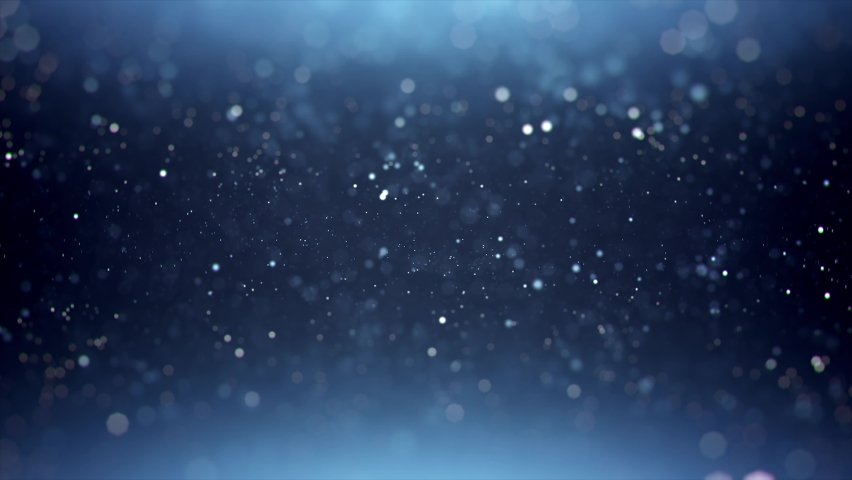 Particles on blue background focus and out focus footage, Particles footage, Motion background footage, New year, Christmas background