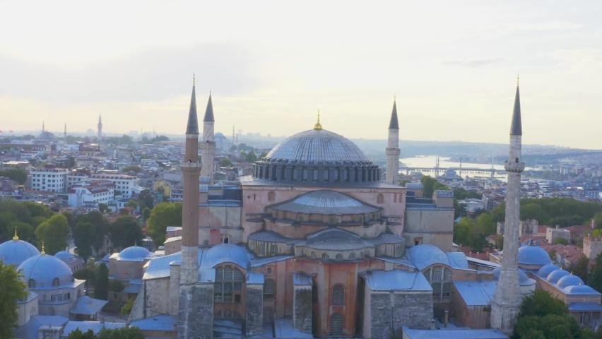 Istanbul City Sea and Hagia Sophia Aerial View 2