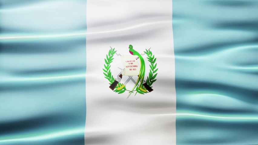 The Guatemala Flag motion background features a seamless looping animation for the flag of Guatemala.