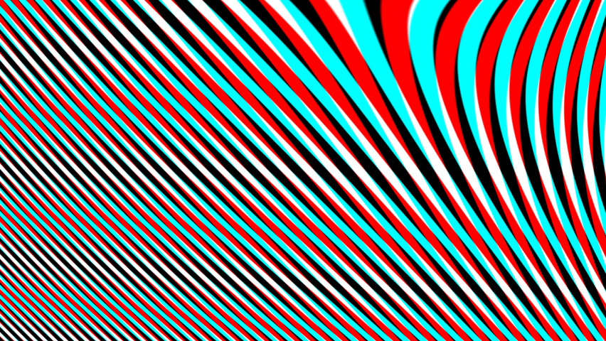 Anaglyph Red Blue Bars Morphing Lines Mask