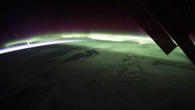Beautiful Planet Earth observed from space. Nasa time lapse shooting earth from space. Elements of this video furnished by NASA.