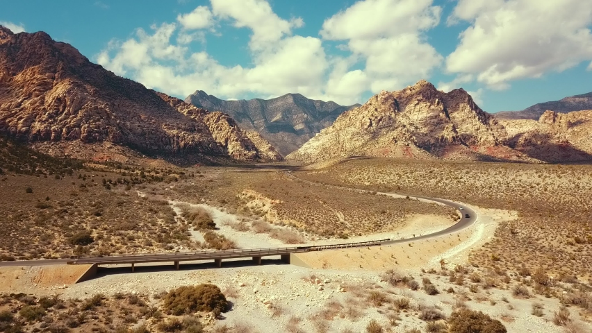 Road through Red Rock Canyon | Shutterstock HD Video #1060733464