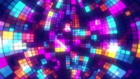Inside Disco Ball GlittersRetro seamless VJ loop animation for music broadcast TV, night clubs, music videos, LED screens and projectors, glamour and fashion events, jazz, pops, funky and disco party.