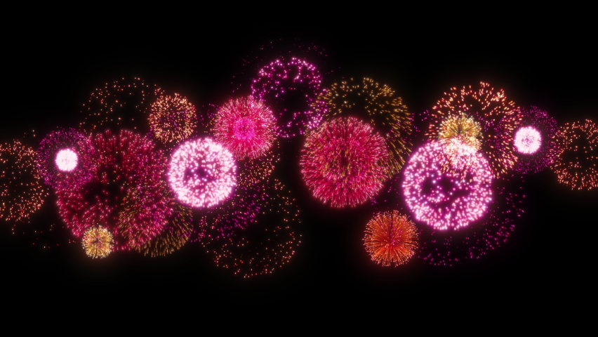Animation of fireworks that go up continuously. Animation of fireworks. | Shutterstock HD Video #1060752262