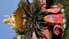 Vertical Video | Shiva the Destroyer, Golden God of Hindu Religion