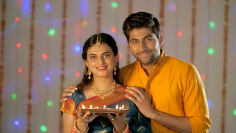 Indian Couple Diwali Stock Video Footage 4k And Hd Video Clips Shutterstock