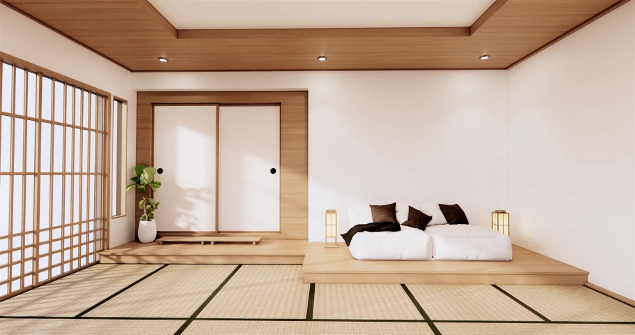 Traditional Japanese Style Living Room, Japanese Living Room