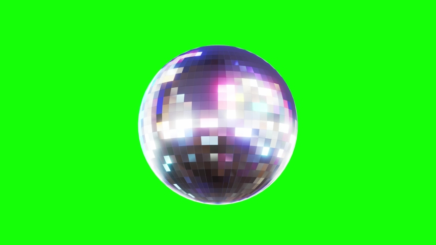 Disco Ball Looped Seamless Rotations on Green Screen Background