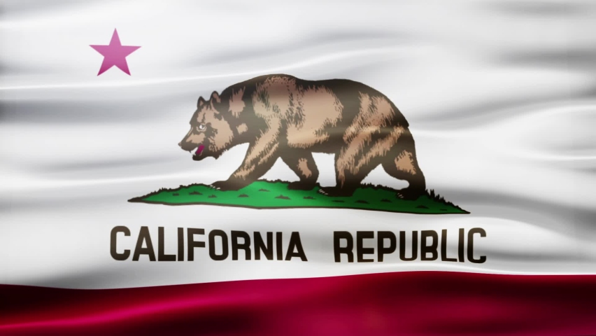 The California State Flag is a looped motion graphic that will work for many different project such as news or business related projects.  | Shutterstock HD Video #1060901905
