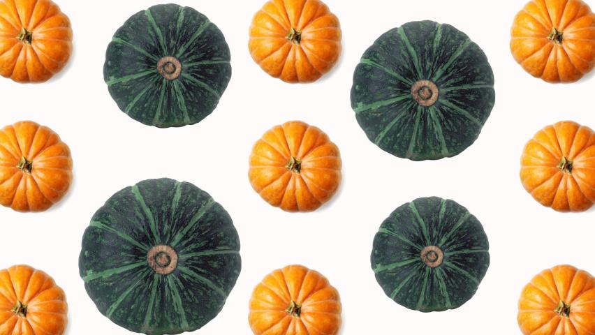 Red and green spinning pumpkins halloween animation. Alpha matte background | Shutterstock HD Video #1060903255
