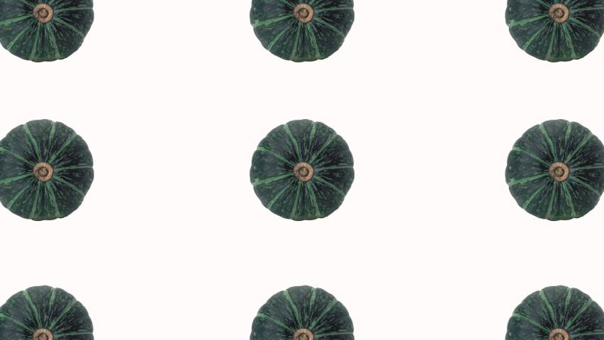 Green spinning pumpkins halloween animation. Alpha matte looping background   Shutterstock HD Video #1060903300