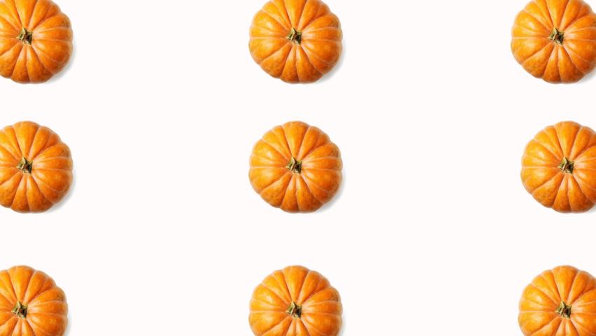 Red spinning pumpkins halloween animation. Alpha matte looping background   Shutterstock HD Video #1060903459