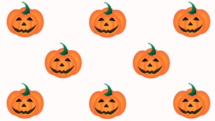 Wiggling pumpkins Halloween animated pattern. Alpha channel background   Shutterstock HD Video #1060930261