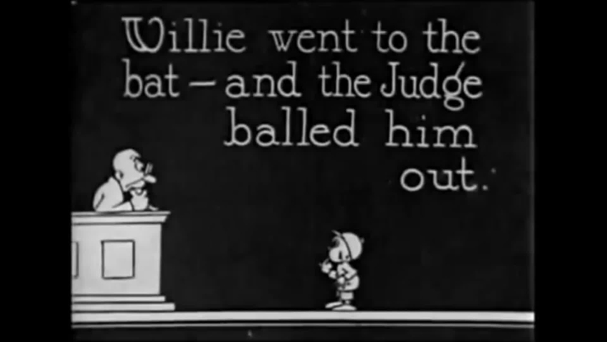 CIRCA 1922 - In this animated film, Felix the Cat has to miss an exciting baseball game.