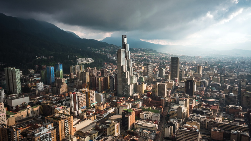 Timelapse view of dramatic skies over Bogota, the capital and largest city in Colombia. | Shutterstock HD Video #1060945891