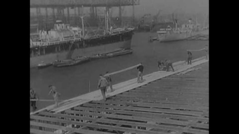 CIRCA 1945 - Western occupying forces in postwar Germany help revitalize land and industries (narrated in 1951).