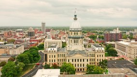 Drone rotation around Illinois State Capitol. The Illinois State Capitol, in Springfield, Illinois, houses the legislative and executive branches of the government of the U.S. state of Illinois