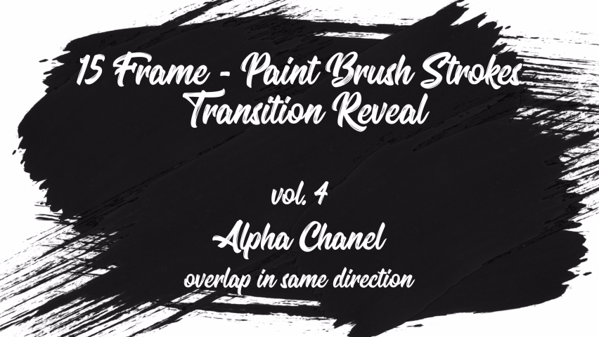 A set of brush stroke transitions in the form of a frame with an alpha channel - transparency. The transition disappears in the same direction as it appears. Perfect for slideshows, matte, opening   Shutterstock HD Video #1060959847