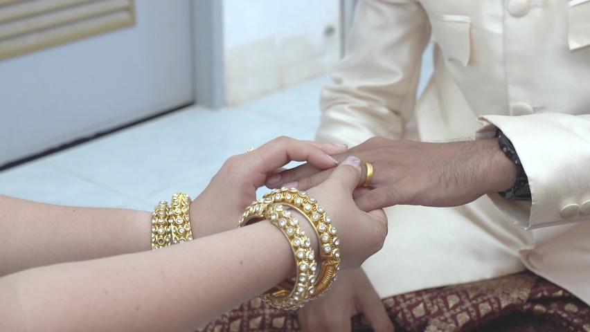 Thai wedding dress, Thai dress on important days for men women | Shutterstock HD Video #1060993135