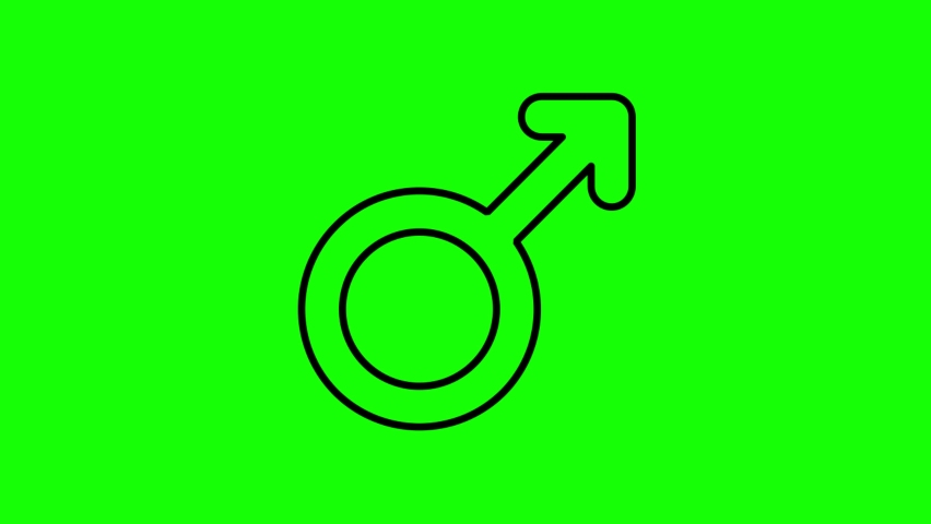 Male line icon animation on the green screen background.4K video.Chroma key.Useful for website, banner, greeting cards, apps, and social media posts. | Shutterstock HD Video #1061010127