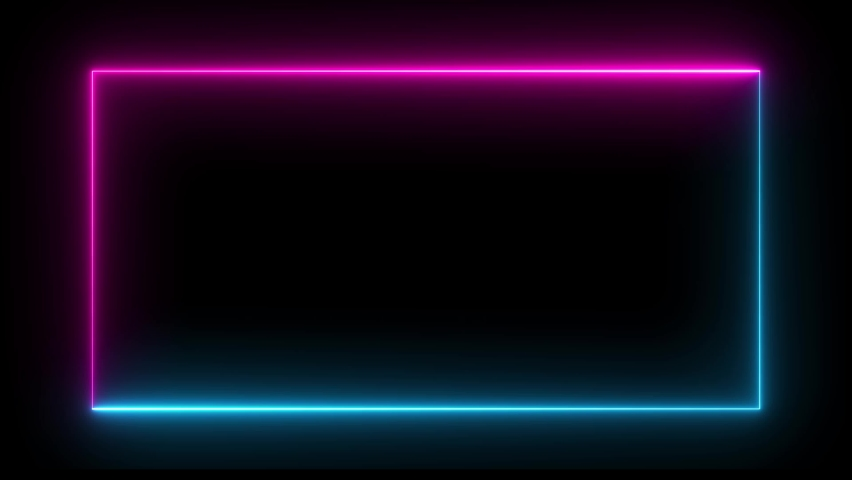 Modern abstract seamless background blue purple spectrum looped animation fluorescent ultraviolet light 4k glowing neon line Abstract background web neon box pattern LED screens projection technology. #1061044642