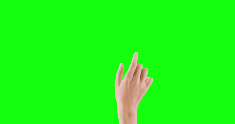 4K Hand Gestures Pack stock video pack contains 20 hand gestures on green screen. The clips include: clicking, various swiping and pinching gestures, the heart sign, and more.