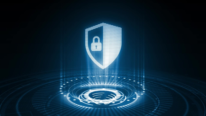 Cyber security data protection business technology privacy concept.  Royalty-Free Stock Footage #1061049346