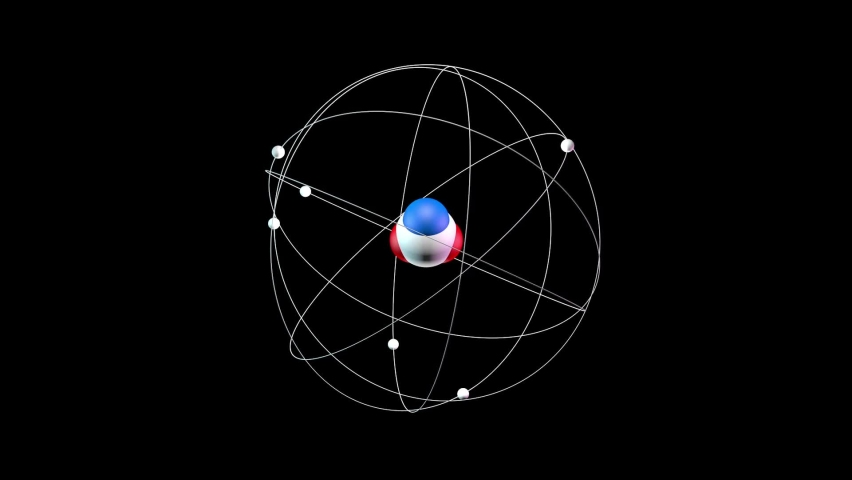 Chemical element at the macro level. Seamless loop. | Shutterstock HD Video #1061053015