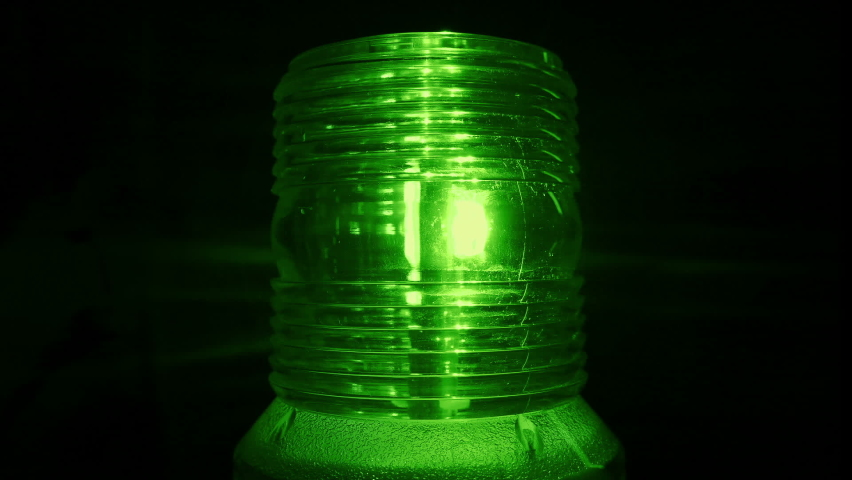 Flashing Green Beacon - Security Industry