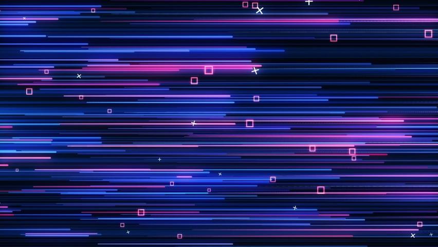 Abstract directional neon lines geometric background. Data flow. Optical fiber. Explosion star. Seamless loop 4k motion effect. Blue modern light spectrum, fluorescent ultraviolet light. | Shutterstock HD Video #1061097829