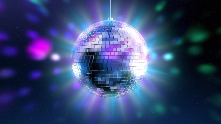 Beautiful Disco Ball Spinning seamless with flares. Loop-able isolated Mirrorball. | Shutterstock HD Video #1061098891