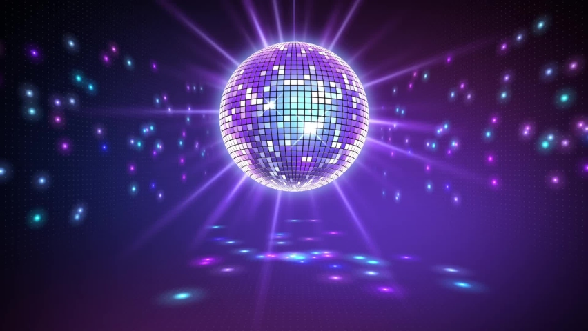 Rotating sparkling disco ball. Concept of night party. | Shutterstock HD Video #1061099797