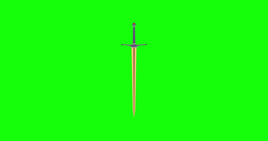 Sword medieval vector icon illustration knight weapon isolated war ancient design. Battle steel old #1061111692