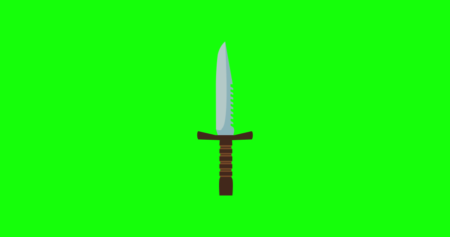 Knife sword weapon ancient vector illustration isolated design. Sharp military war medieal dagger warrior