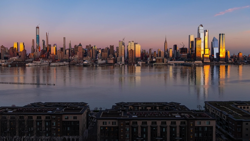 New York City midtown skyline time lapse with architecture | Shutterstock HD Video #1061145868
