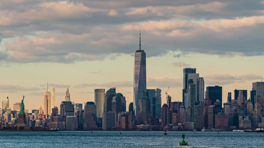New York City downtown skyline time lapse | Shutterstock HD Video #1061145886