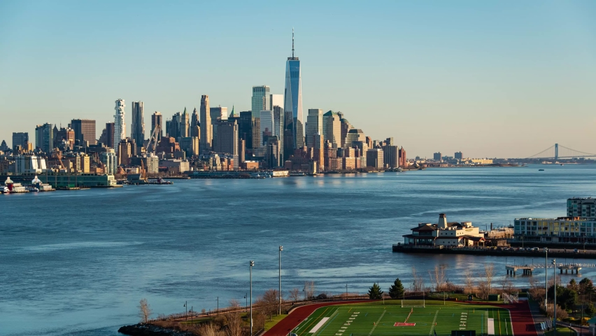 New York City downtown skyline time lapse | Shutterstock HD Video #1061145892